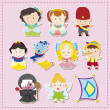 Cartoon story icons - Image vectorielle