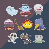 Cute helloween stickers — Stock Vector