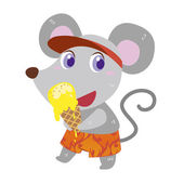 A mouse beach activities — Stock Vector