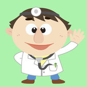 Doctor ,Cartoon Character, Vector Illustration — Stock Vector
