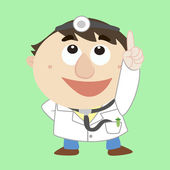 Doctor ,Cartoon Character, refers to the top — Stock Vector