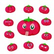 Royalty-Free Stock Vector Image: Tomato cartoon with many expressions