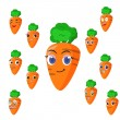 Royalty-Free Stock Vector Image: Carrot cartoon with many expressions