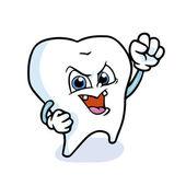 Funny cartoon tooth — Stock Vector