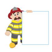 An illustration of cartoon fireman ,vector — Stock Vector
