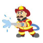 An illustration of cartoon fireman ,vector — Stock Vector