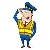 Kreskówka mężczyzna policjant — Wektor stockowy