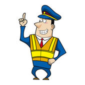 Male cartoon police officer — Stock Vector