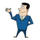 Cartoon business man — Stock Vector