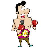 Cartoon Boxer — Vector de stock