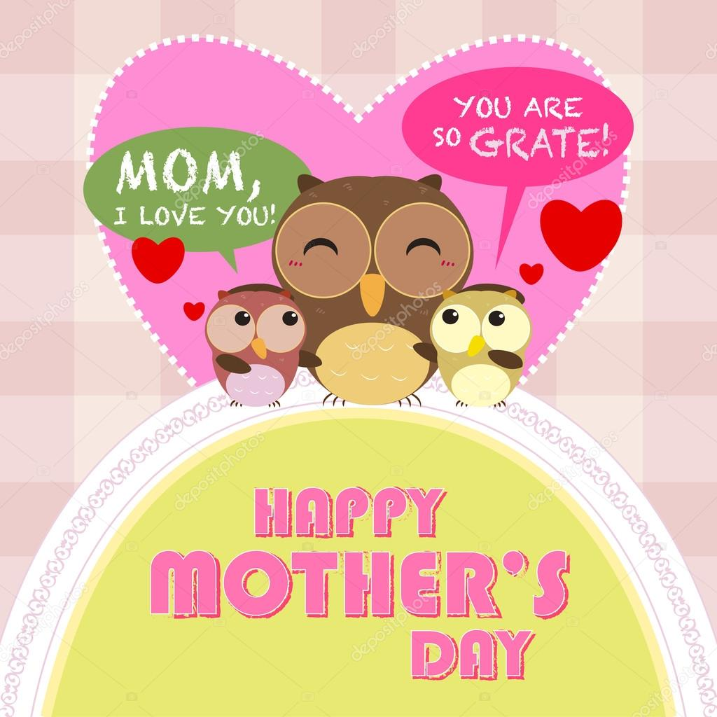 Happy mothers day, cute background. vector illustration ...