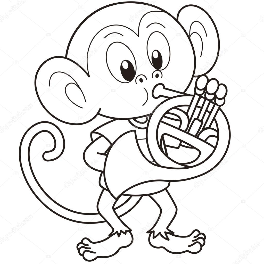 french horn coloring pages - photo#23