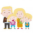 Illustration of cute family with white — Stock Vector #22734231
