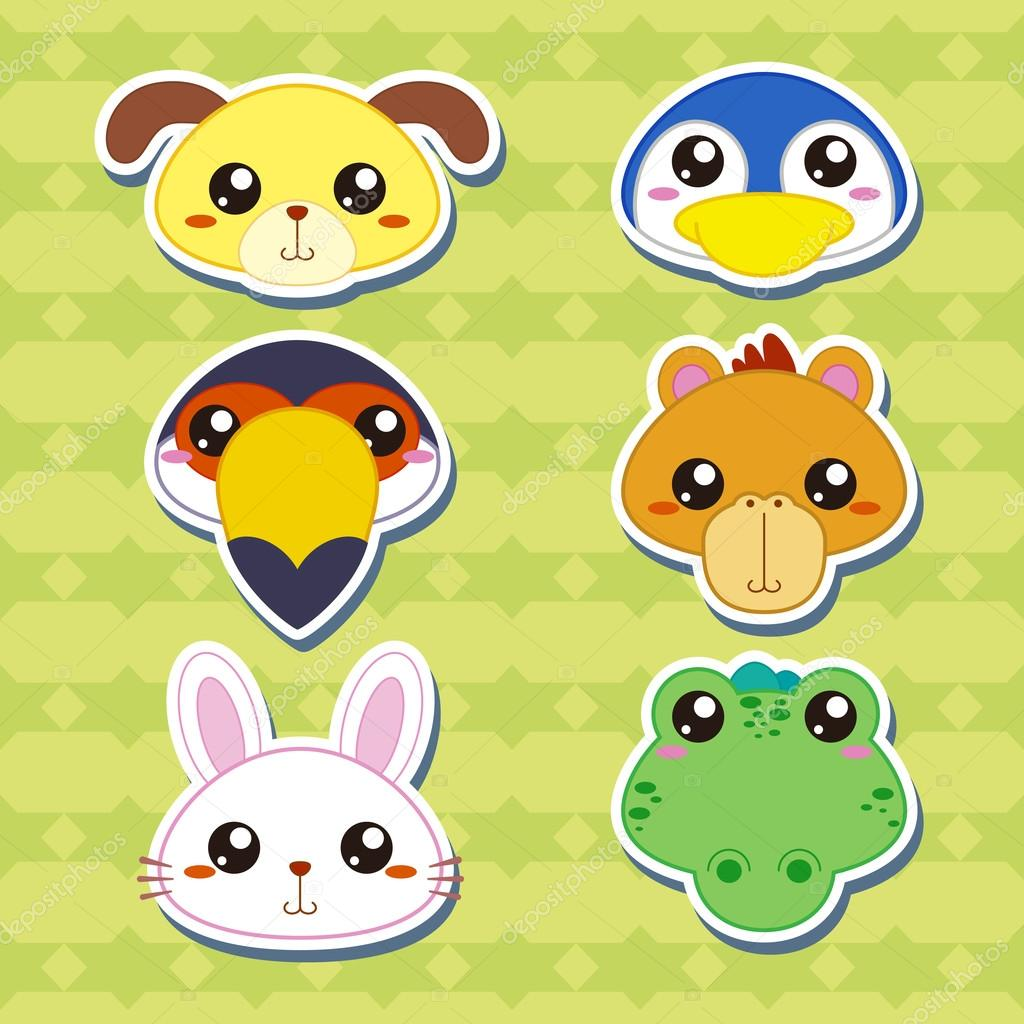 cartoon animal stickers in - photo #23