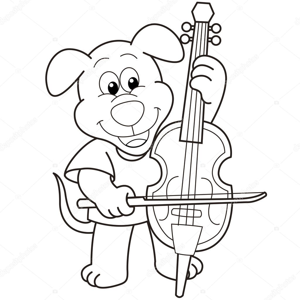 free cello coloring pages-#14