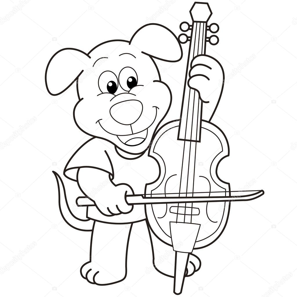 free cello coloring pages - photo#14