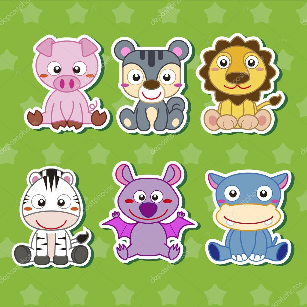 cartoon animal stickers in - photo #18