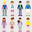 Royalty-Free Stock Vector Image: Fashion Pixel People
