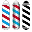 Stock Vector: Barber pole