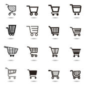 Auflistung von Vector shopping Cart-Symbole — Stockvektor