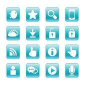 Web, communication icons: internet vector set. — Stock Vector