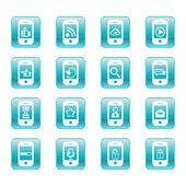 веб-иконки коммуникации: интернет набора векторов. — Cтоковый вектор