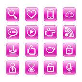 Web, communication icons: internet vector set. — Stock Vector