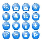 Webb, kommunikation ikoner: internet vektor set. — Stockvektor