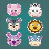 Cute animal head icon — Stock Vector