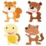 Cute animal set — Stock Vector #25959739