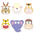 Cartoon animal head set — Stock Vector #26409851