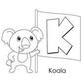 Animal alphabet K — Stock Vector