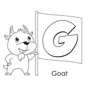 Animal alphabet G — Stock Vector