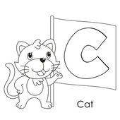 Dierlijke alfabet c — Stockvector