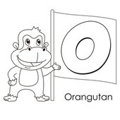Animal alphabet O — Stock vektor