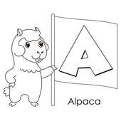 Animal alphabet A — Stock Vector