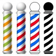 Vector de stock : Barber shop pole