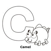 Coloring-alphabet für kinder, c — Stockvektor