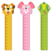 Cute bumper children meter wall. — Stockvector