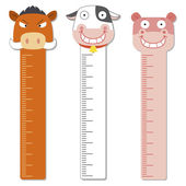Cute bumper children meter wall. — Stock Vector