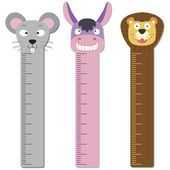 Cute bumper children meter wall. — Stockvektor