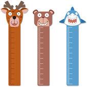 Cute bumper children meter wall. — Stock Vector