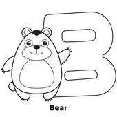 Colorear alfabeto para niños, b — Vector de stock