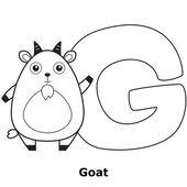 Coloring-alphabet für kinder, g — Stockvektor