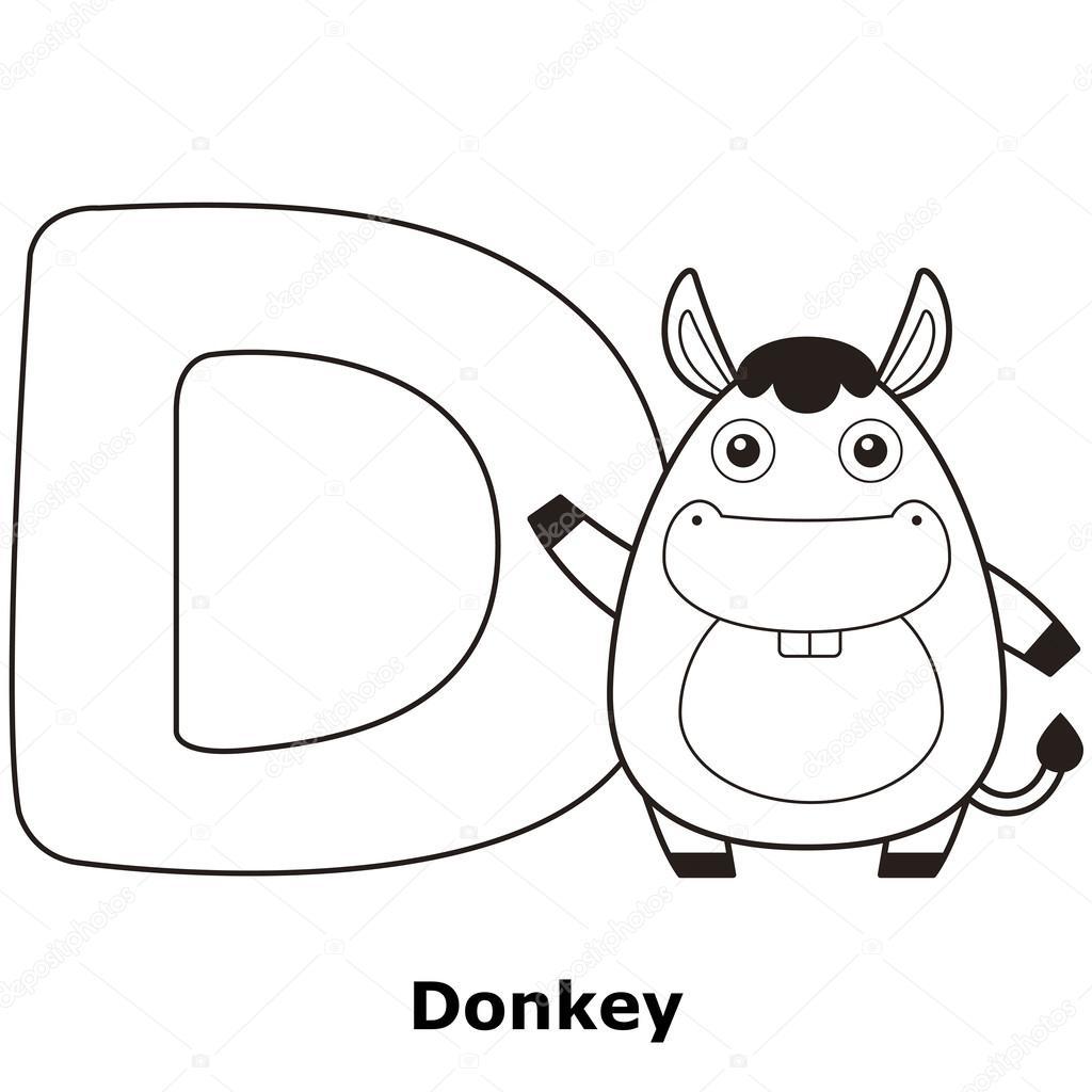 着色字母表的孩子们,d