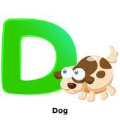 Animal alphabet D — Cтоковый вектор
