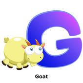 Alfabeto animali g — Vettoriale Stock