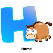 Animal alphabet H — Stockvektor