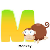 Animal alphabet M — Wektor stockowy