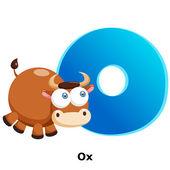 Animal alphabet O — Stockvector